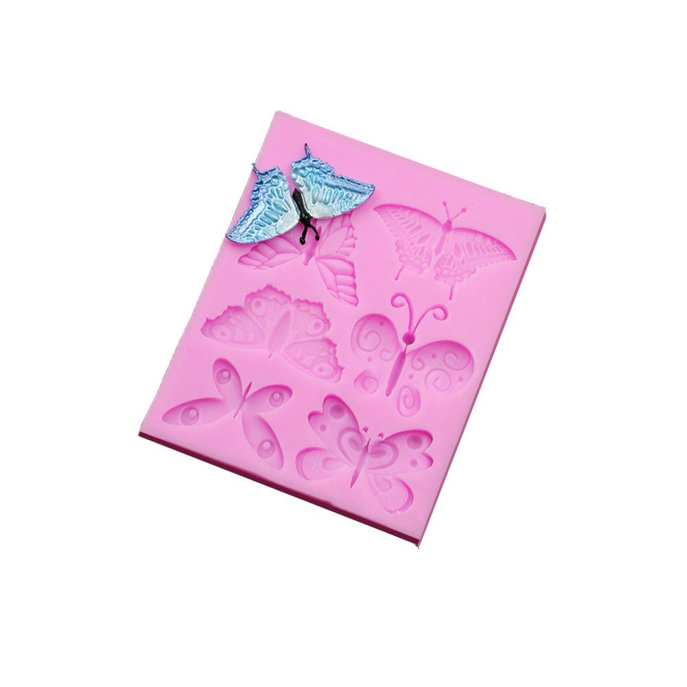 SK Butterfly Chocolate Candy Silicone Cake Mould for Cake Decoration