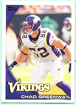 huge selection of 5d985 cec34 Chad Greenway 2010 Topps #49 - Minnesota Vikings at Amazon's ...