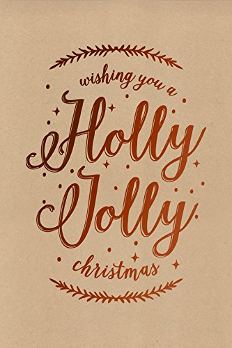 Holly Jolly Christmas Card - The Gift Wrap Company 995405 15 Count Holly Jolly Boxed Holiday Cards, Medium