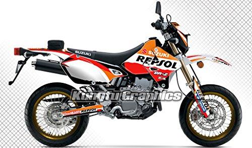 Kungfu Graphics Repsol Custom Decal Kit for Suzuki DRZ400 SM 1999 up ...