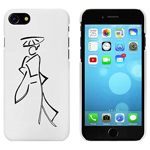 Blanc 'Abstrait Femme Orientale' étui / housse pour iPhone 7 (MC00059630)