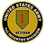 1 Pc Perfect Popular U.S. Army 1st Infantry Division Veteran Stickers Signs Decor Wall Windows Size 4.5