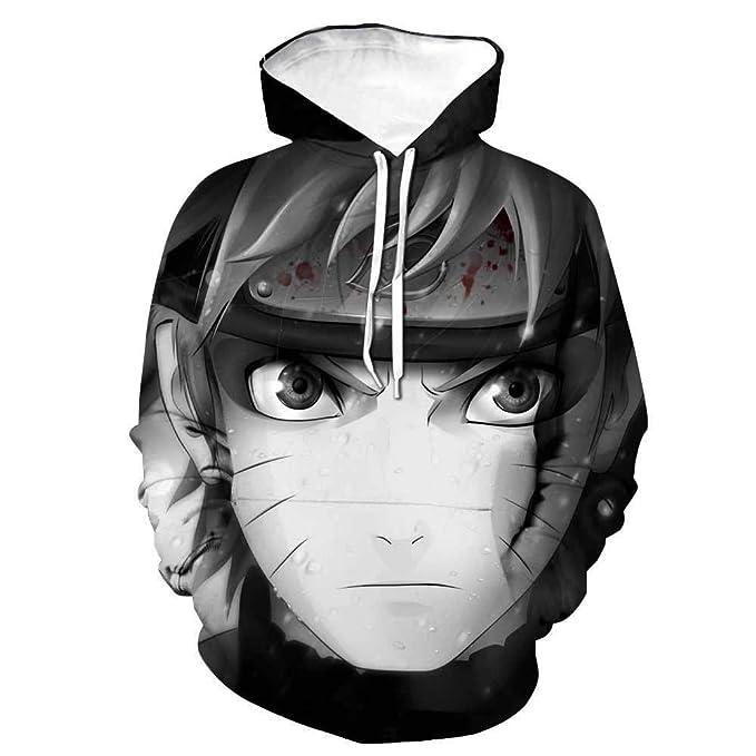 JXKEF Sudaderas con Capucha para Hombre y Mujer, Naruto 3D impresión Anime Sudadera Jersey Cosplay Uniforme de béisbol: Amazon.es: Ropa y accesorios