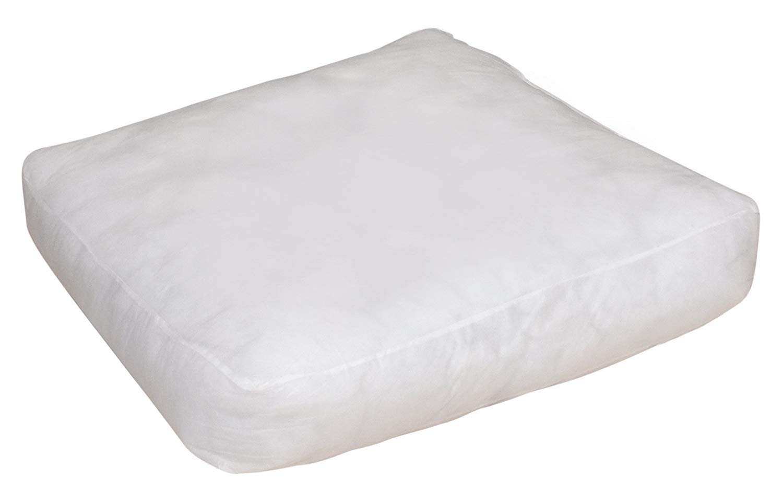 Pack of 1 Floor Square Pillow Insert Premium Hypoallergenic Stuffer Form 35 x 35 inch Pillow Filler Pillow Insert Sham Square Form Polyester, Standard / White by Divya Print