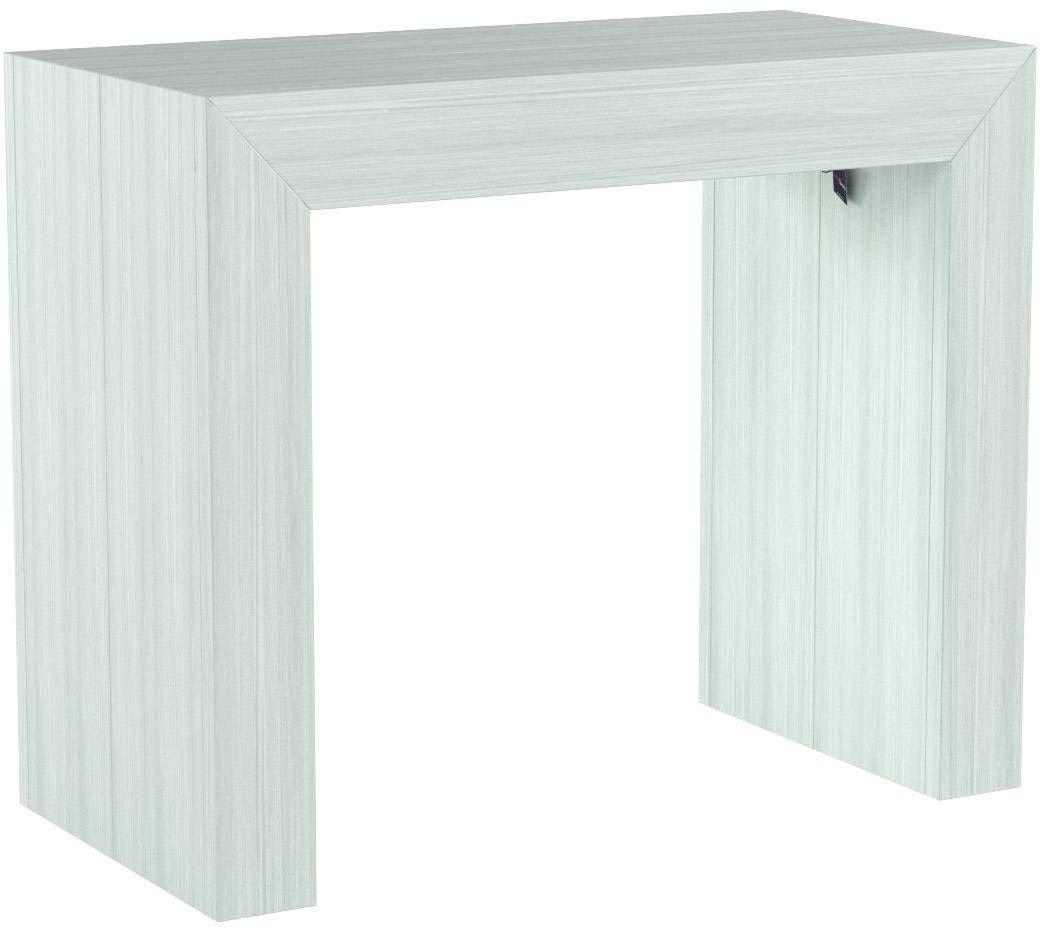 300x90 cm FASHION COMMERCE TAVOLO-CONSOLLE ALLUNGABILE bianco 90×50 cm
