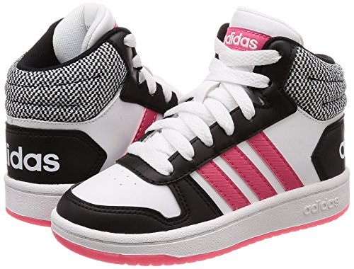 0 Rosrea K Ftwbla 2 Baskets Mid negbas 000 Adultes Adidas Hoops Noires Unisexes qTHwgTp