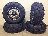 """Bundle - 9 Items: STI HD3 14"""" Wheels Machined 28"""" Mud Lite XL Tires [4x137 Bolt Pattern 12mmx1.25 Lug Kit]"""