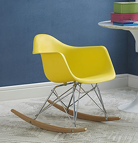 Modway Rocker Kids Chair Yellow product image