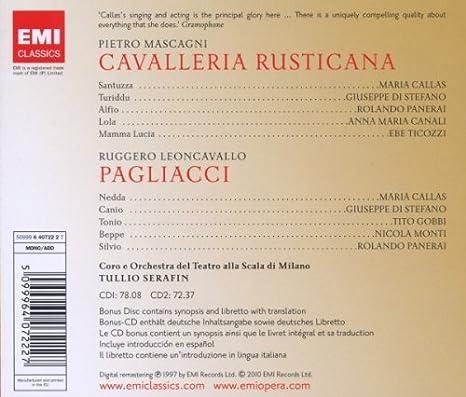 Pagliacci & Cavalleria Rustica - Serafin, Callas, di Stefano ...