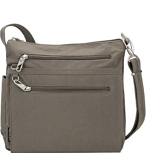 Travelon Anti-Theft Essential North/South Bag - Small Nylon Crossbody for Travel & Everyday