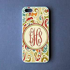 Monogram Iphone 5 Case - Paisley Monogram Iphone 5 Cover