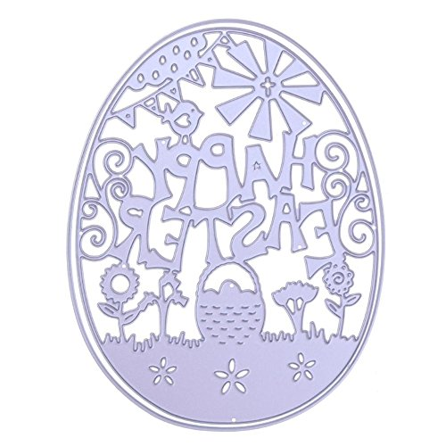 sunsoar Metal Easter Egg Cutting Dies Scrapbooking Stencils Template for DIY Album