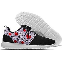 I Heart Bacon Men Walking Shoes Lightweight Sneaker