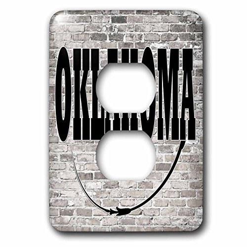 3dRose RinaPiro - US States - Oklahoma. State Capital is Oklahoma City. - Light Switch Covers - 2 plug outlet cover - City Outlet Oklahoma