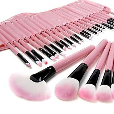 KLAREN 32 PCS Makeup Cosmetic Brush Set Kit Eyebrow Eyeshadow Blush