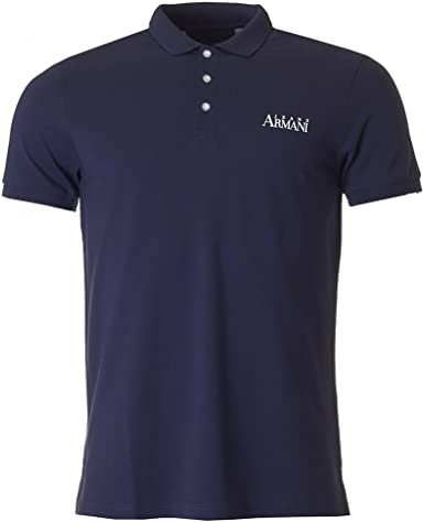 Armani Jeans Short Sleeved Back Logo Polo NAVY XXL: Amazon.es ...