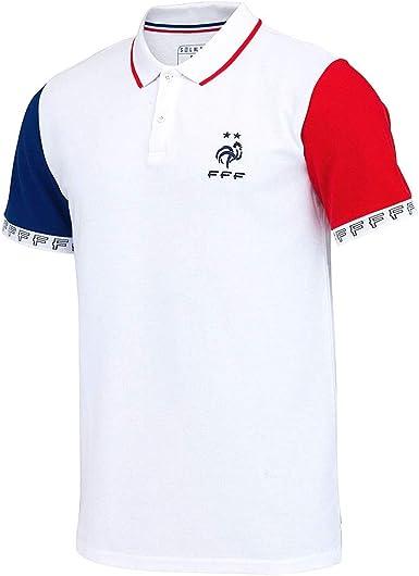 Polo Oficial de Francia de 2 Estrellas, Color Blanco Blanco L ...