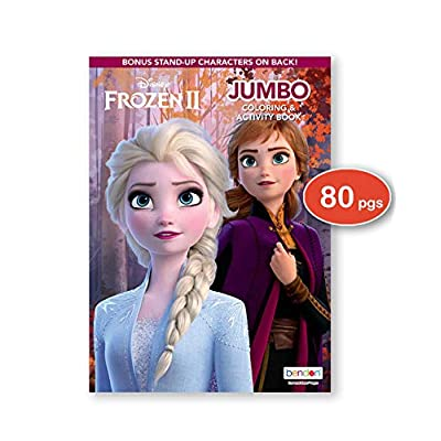 Disney Frozen and Frozen 2 Coloring Book & Stickers Activity Deluxe Set: Toys & Games