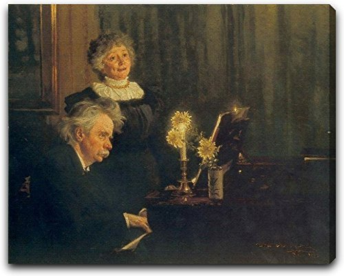 Nina y Edvard Grieg by Peder Severin Kroyer Extra Thick 2.5 Gallery Wrapped Canvas