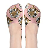 Womens Tiger Animal Socks For Loafers Boat Line Socks Novelty Special No Show Socks For Young