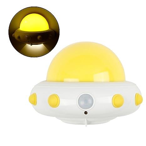 LEDMOMO Luces nocturnas para niños, sensor de movimiento Luces nocturnas Inalámbrico USB Lámpara de pared