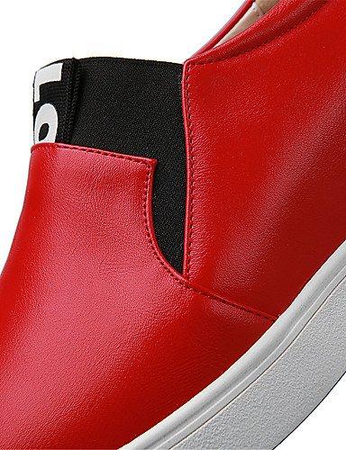 Planos uk6 red Redonda eu36 Tacón red Semicuero mujer Zapatos y red eu39 Mocasines Punta cn39 us8 cn39 5 Plano de Trabajo eu39 ZQ us5 Blanco uk6 uk3 5 cn35 Oficina Vestido Rojo Casual us8 Aqnx04YTx