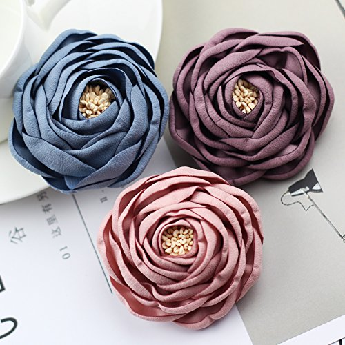 Korean Air brooch fabric large wild flower personalized jewelry accessories female igan sweater corsage brooch pin (Brooch Wildflower)