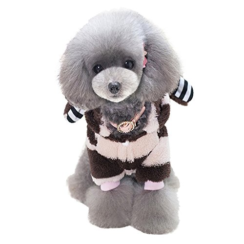 [Spring fever Warm Adorable Pet Hoodie Costume Winter Rabbit Suit for Puppy/Dog/Cat Pink L] (Zero Dog Costume Pattern)