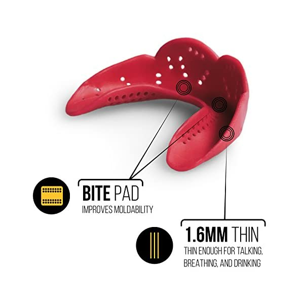 SISU Mouth Guards Aero 1.6mm Custom Fit Sports Mouthguard for Youth/Adults 5
