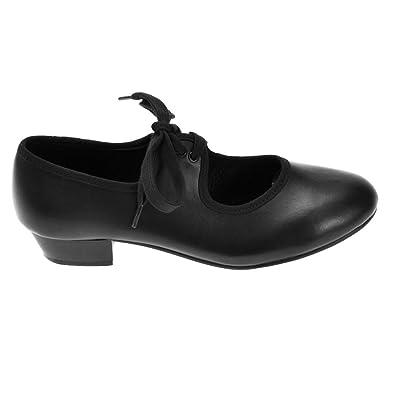 Starlite Negro Hyper Easy Slip On Leather Jazz Shoe 2.5L r1DiIm2IR