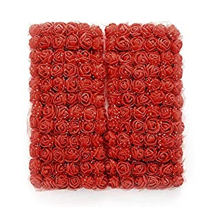 ClorWind 144pcs/lot 2.5cm Mini Foam Rose Artificial Flowers Home Decor Multicolor Rose DIY Wedding Party Decoration A 104