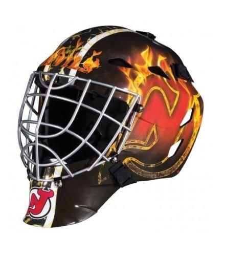 CS NJ New Jersey Devils Full Size Youth Goalie Hockey Mask