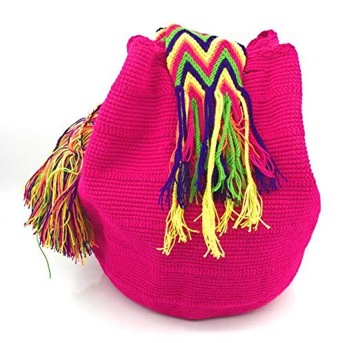 Handmade pour femmes Wayuu la main hommes à fois et Los Sac dos les les colombiens Sacs Naranjos STYLE à COLOMBIAN à Ixq4OZXwO