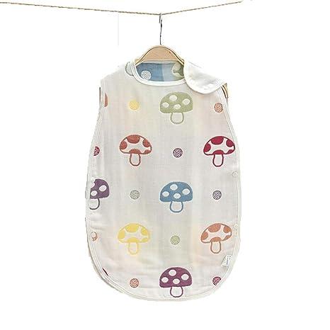 Gleecare Saco de Dormir para bebé,Saco de Dormir de algodón Gasa Estilo Chaleco Anti