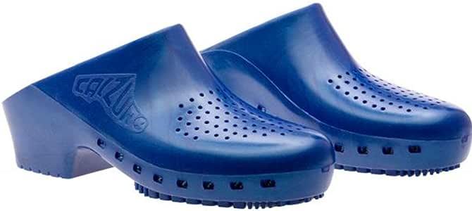 Cascos sanitarios calzuro S Classic con orificios profesionales CE 39-40 azul celeste