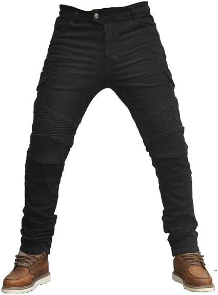 Herrens Atmungsaktiv Motorradhose Slim Fit Jeanshose Bikerhose Motorradjeans Jeans Mit 4 Protektoren Knieprotektoren Sport Freizeit