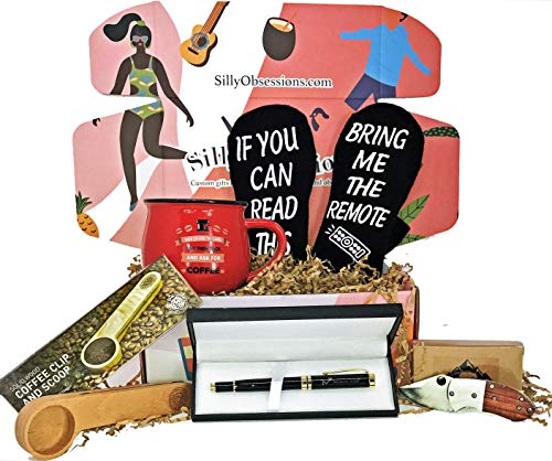 """""""The Man Box"""" - Gift Box Basket Set for Guys - Fun Gifts for Men by Silly Obsessions"""