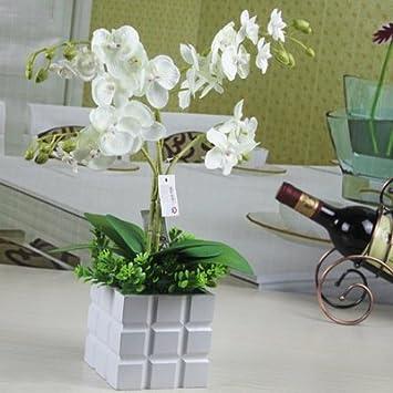 Syhome Kunstliche Pflanzen Fake Blumen Orchidee Orchidee Im Topf