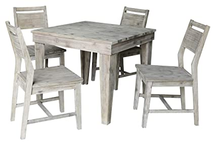 Attirant Amazon.com   International Concepts 5 Pc Modern Dining Table ...