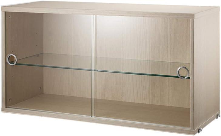 Sistema String de armario vitrina con puertas correderas.: Amazon.es: Hogar