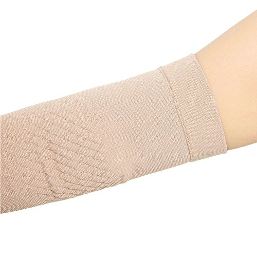 Spotbrace Medical Arm Elbow Brace Sleeve, Thin Elastic Compression Elbow Support Wrap for Men Women Arthritis, Golfers, Tennis, Badminton, Pain Relief Sprain, Muscle Injury, Tendonitis - Nude, 1 Pair by Spotbrace (Image #9)
