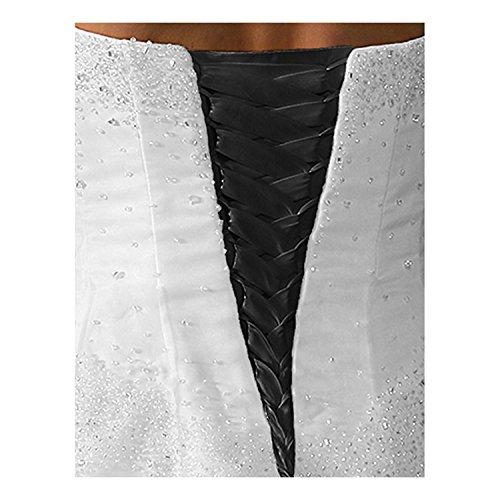 (tutu.vivi Wedding Dress Zipper Replacement Adjustable Fit Corset Back Kit Lace Up Satin Black)