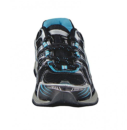 4A Walk Sport Guantes Mujer Negro/Azul Claro Schwarz / Hellblau