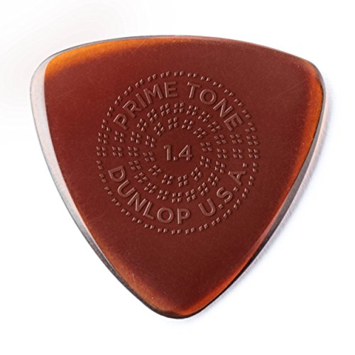 (Dunlop 24516140003 Primetone Small Triangle 1.4mm Sculpted Plectra (Grip) - 3 Pack )