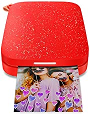 $49 » HP Sprocket Portable Photo Printer (2nd Edition) – Instantly Print 2x3 Sticky-Backed Photos from Your Phone – [Cherry Tomato] [1AS90A]