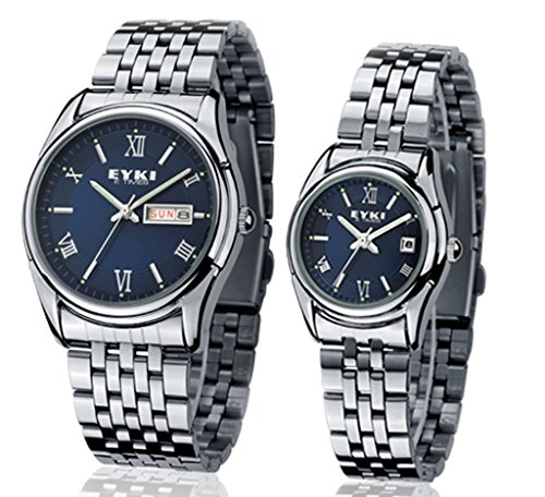 siliver-stainless-steel-band-couple-watches-for-lover-with-blue-face