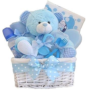 Belle Deluxe Gross Baby Geschenk Korb Baby Boy Geschenk Baby