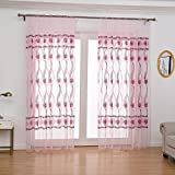 Best Norbi Curtains For Living Rooms - Norbi Voile Tulle Room French Window Curtain Sheer Review