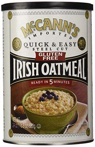 McCann's Gluten Free Quick and Easy Steel Cut Oats Canister, 24 Ounce