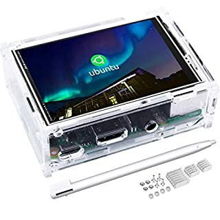 kuman 3.5 Inch Touch Screen with Protective Case 320x480 Resolution TFT LCD Display for Raspberry Pi 3B+, 2B, B+